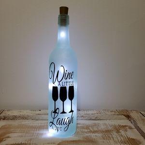 Light Up Funny Wine Bottle Decoration